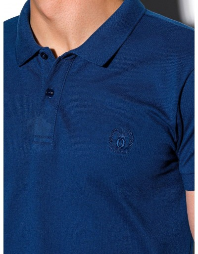 Men's plain polo shirt S1048 - navy
