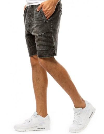 Pánské džínové kraťasy černé SX1051