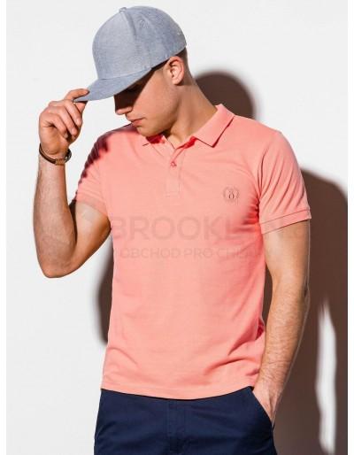 Men's plain polo shirt S1048 - coral