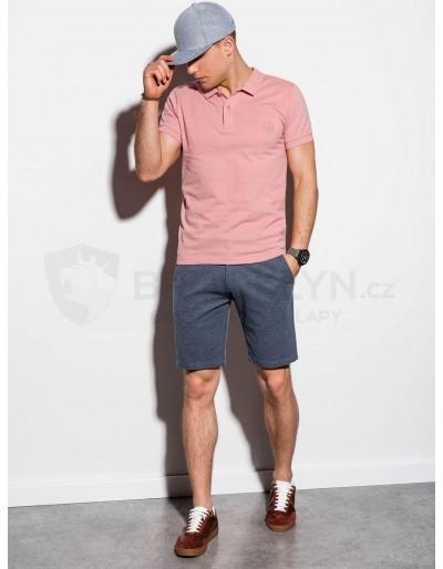 Men's plain polo shirt S1048 - powder pink