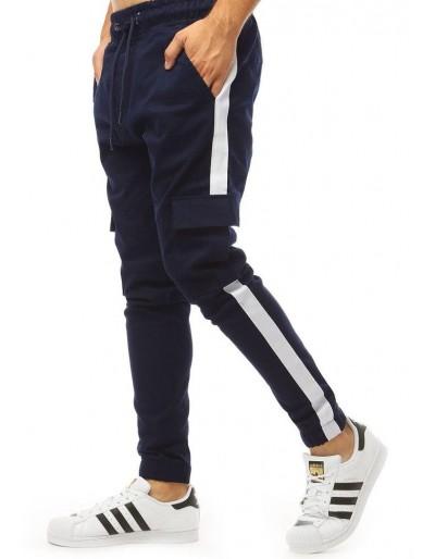 Tmavě modré pánské tepláky jogger UX1998