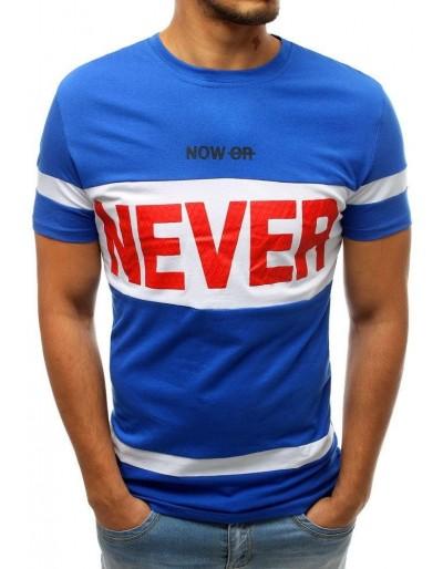 Modré pánské tričko s potiskem RX3724