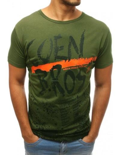 Zelené pánské tričko s potiskem RX3727