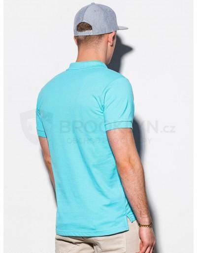 Men's plain polo shirt S1048 - mint