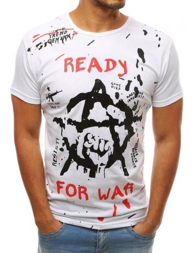 Bílé pánské tričko RX3729 s potiskem