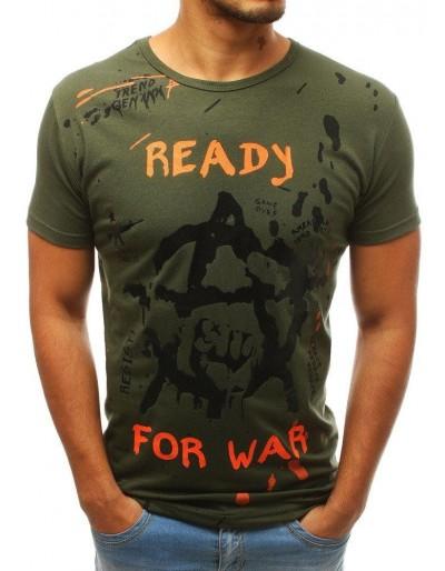 Zelené pánské tričko s potiskem RX3730