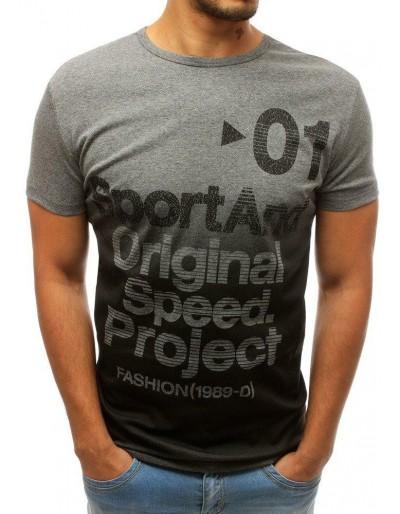 Pánské tričko s antracitovým potiskem RX3732