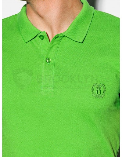 Men's plain polo shirt S1048 - green