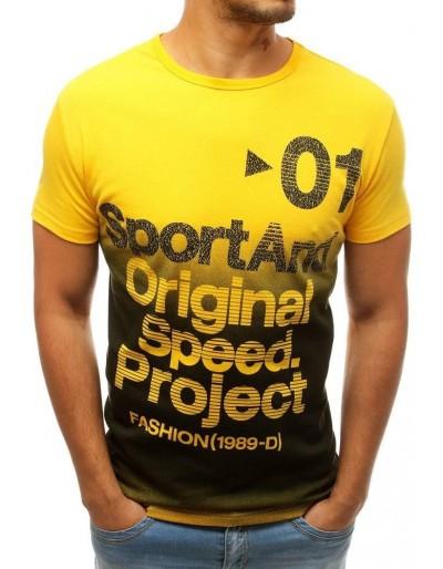 Pánské tričko se žlutým potiskem RX3734