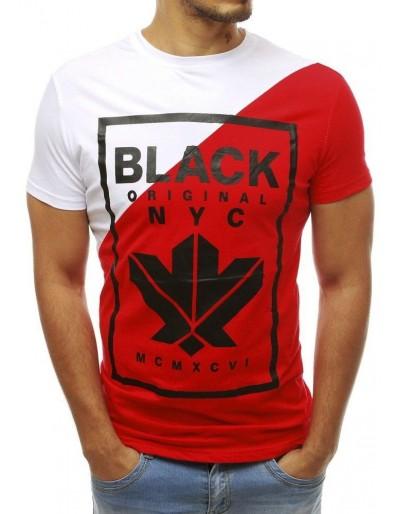 Pánské tričko s bílým a červeným potiskem RX3738