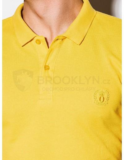 Men's plain polo shirt S1048 - yellow