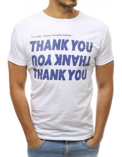 Bílé pánské tričko RX3744