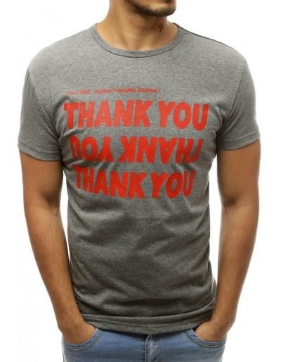 Šedé pánské tričko RX3745 s potiskem