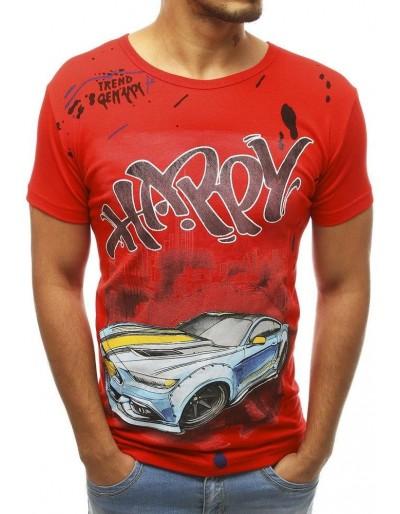 Červené pánské tričko RX3755 s potiskem