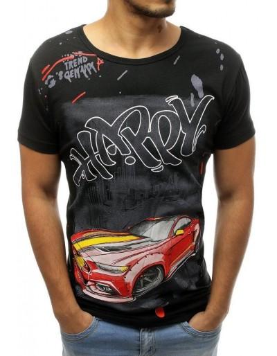 Černé pánské tričko RX3757 s potiskem