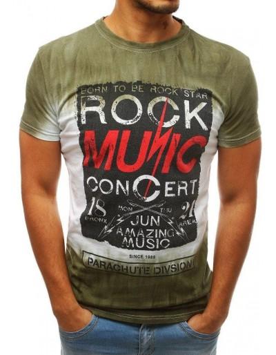 Zelené pánské tričko s potiskem RX3759