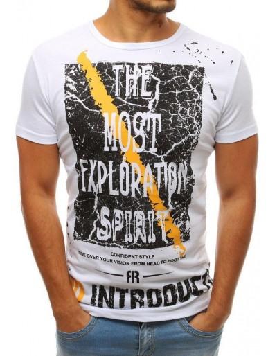 Bílé pánské tričko RX3761 s potiskem