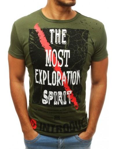 Zelené pánské tričko s potiskem RX3762