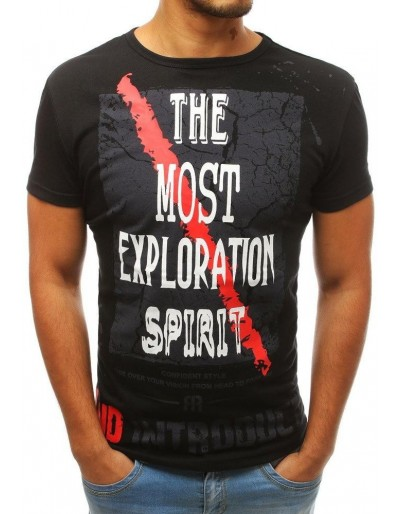 Černé pánské tričko s potiskem RX3763