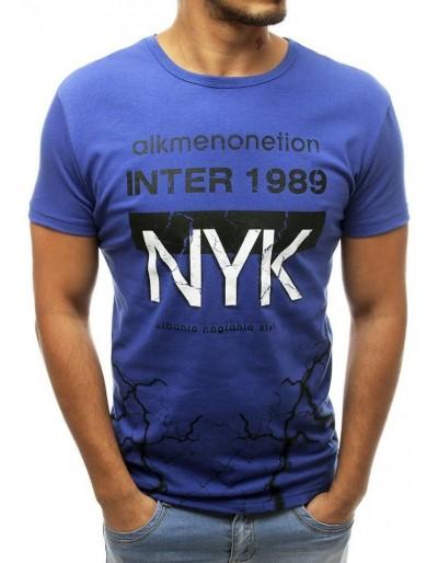 Modré pánské tričko s potiskem RX3765