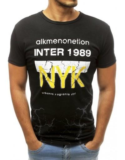 Černé pánské tričko RX3766 s potiskem