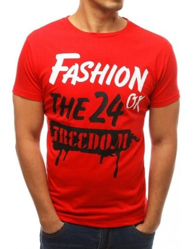 Pánské tričko s červeným potiskem RX3768