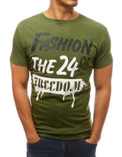 Zelené pánské tričko s potiskem RX3769