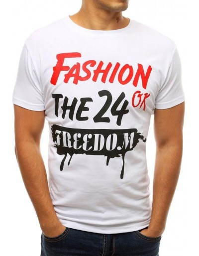 Pánské tričko s bílým potiskem RX3771