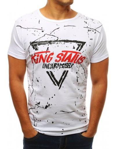 Pánské bílé tričko RX3772