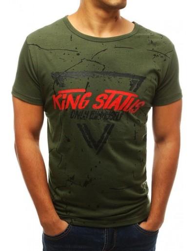 Zelené pánské tričko s potiskem RX3773