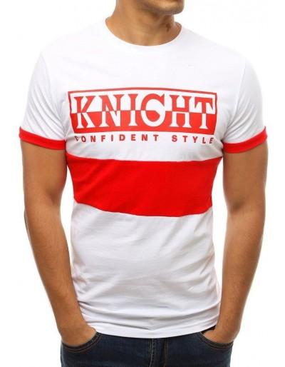 Bílé pánské tričko RX3775 s potiskem
