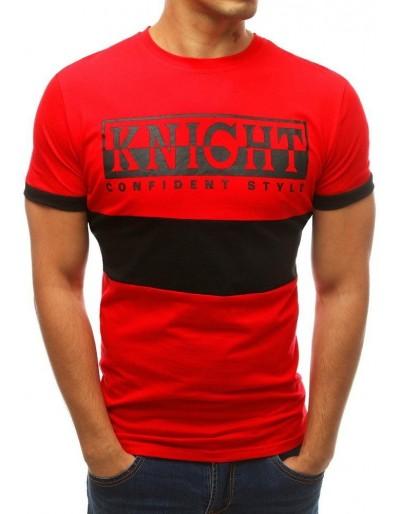 Červené pánské tričko s potiskem RX3776