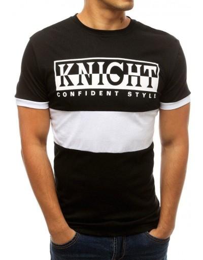 Černé pánské tričko s potiskem RX3777