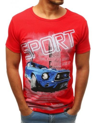 Pánské tričko s červeným potiskem RX3779