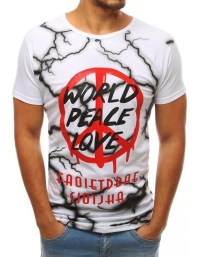 Bílé pánské tričko s potiskem RX3781