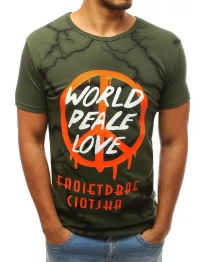 Zelené pánské tričko s potiskem RX3783