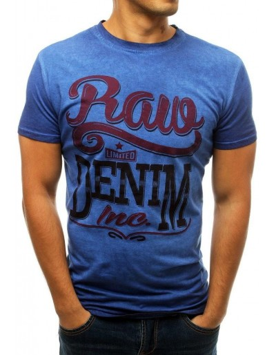 Pánské tričko s modrým potiskem RX3785
