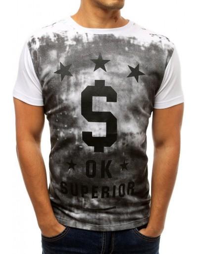Pánské tričko s potiskem bílé rx3788
