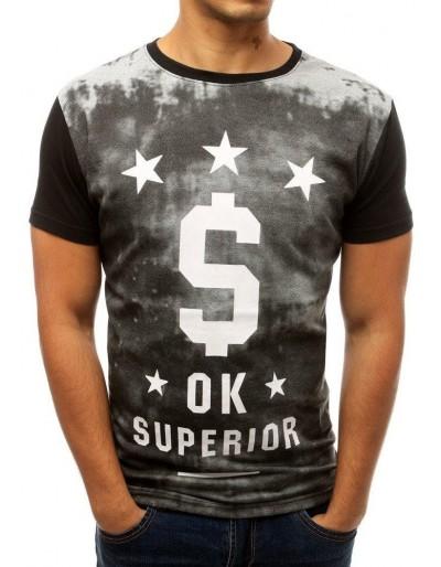 Černé pánské tričko s potiskem RX3789