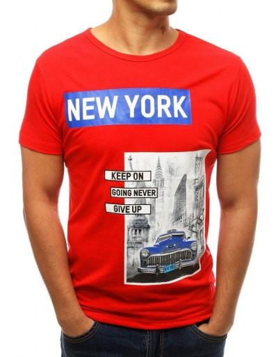 Pánské červené tričko RX3791