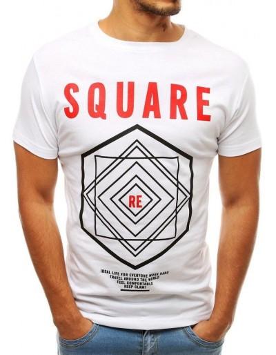 Bílé pánské tričko RX3801 s potiskem