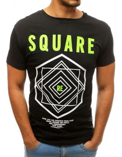 Černé pánské tričko RX3802 s potiskem