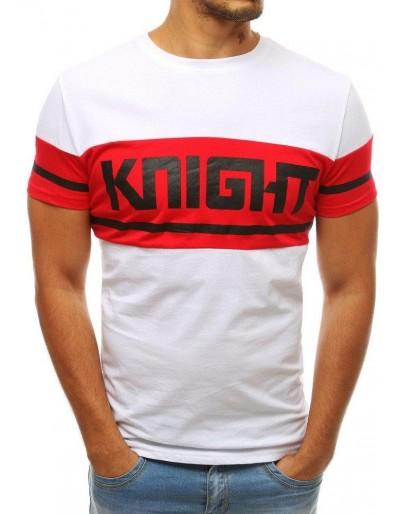 Bílé pánské tričko RX3803 s potiskem