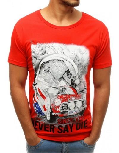 Červené pánské tričko RX3808 s potiskem