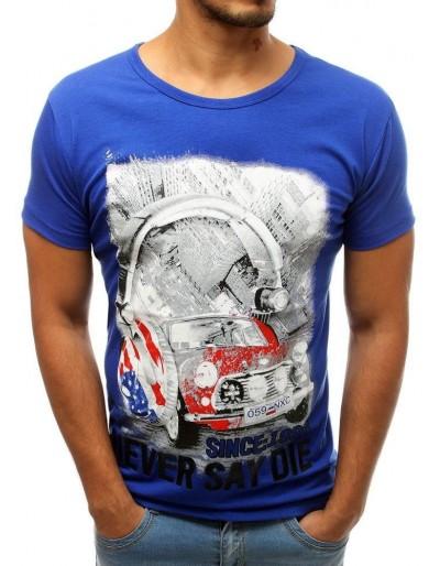 Modré pánské tričko RX3809 s potiskem