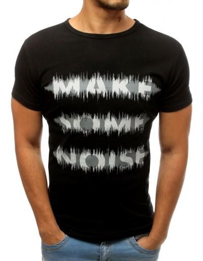 Černé pánské tričko RX3811 s potiskem