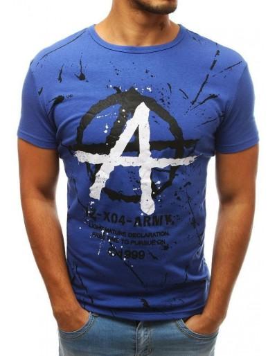 Modré pánské tričko RX3813 s potiskem
