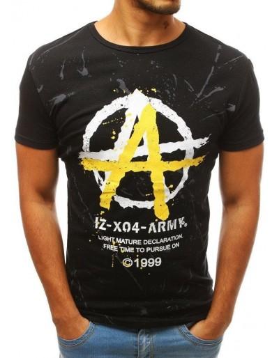 Černé pánské tričko RX3814 s potiskem