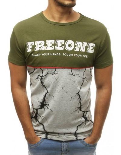 Zelené pánské tričko s potiskem RX3823