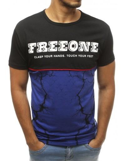 Černé pánské tričko RX3824 s potiskem